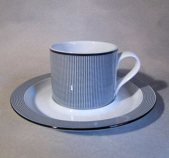 Dansk Bistro Cup and Saucer, 80s Pattern