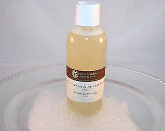 Body Wash and Bubble Bath 2-in-1, Tahitian Vanilla, 8 oz Vegan
