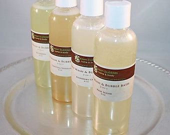 Body Wash and Bubble Bath 2-in-1, Lemon Zest, 8 oz Vegan