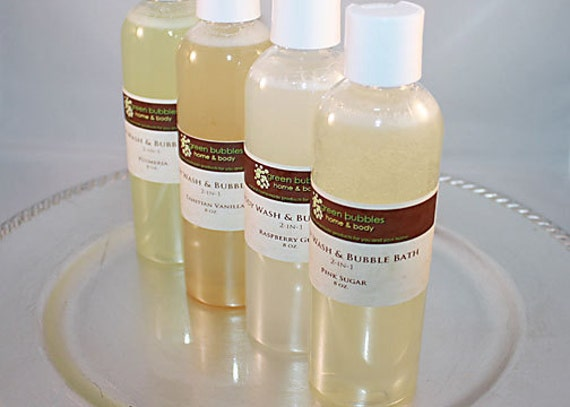 Body Wash and Bubble Bath 2-in-1, HONEY PATCHOULI, 8 oz Vegan