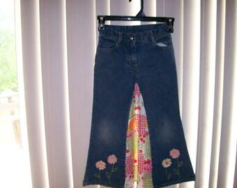 Girls long denim skirt