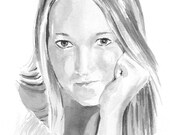 Custom Pen & Ink Wash Portrait