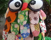 Handmade OWL Patchwork Shoulder Bag