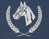 Horse Show Blue Graphic Tee Womens Limited Edition