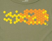 Hive Olive Green Graphic Tee Womens Limited Edition Organic Cotton