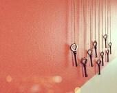 Skeleton Key (heart-shaped) Necklace.