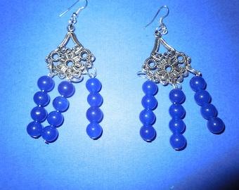 Chic Sapphire Chandelier Earrings.