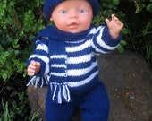 Knitting Pattern for Baby Doll / Baby Born Doll Clothes Sports Supporter JO JO  PDF download