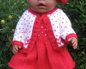 Knitting Pattern for Baby Doll / Baby Born Doll Clothes -  Fair isle  Outfit - MORGAN -  PDF download