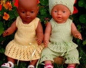 Knitting Pattern for Baby Doll / Baby Born Doll Clothes -  Summertime  Outfit - EVELYN -  PDF download