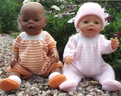 Knitting Pattern for Baby Doll / Baby Born Doll Clothes -  Onesie / Bodysuit - FELICITY -  PDF download