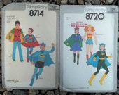 1978 DC Comics Kid's Superheroes Costumes Vintage Patterns