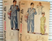 1940s 50s Boy's Pajama  Vintage Patterns -Lot