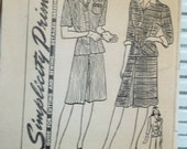 1940s Vintage Women's Suit Simplicity Patterns
