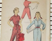 1950s Girl's Coveralls Jumpsuit Vintage Advance Pattern RARE