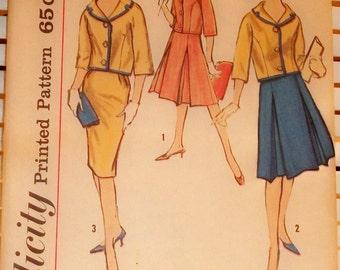 1960s Vintage Simplicity Suit Pattern Young Miss
