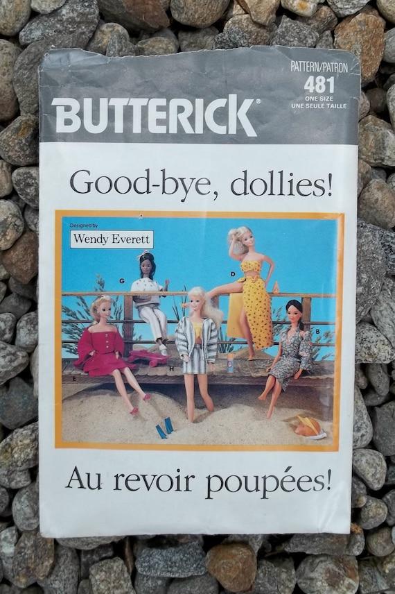 Butterick 'Barbie' Doll 80s Resort Wear Clothing Pattern