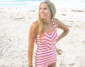 Retro Striped One Piece Swimsuit
