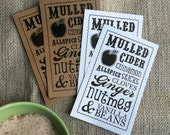Christmas Holiday Gifts - Mulled Apple Cider - Mason Jar Mix - PRINTABLE Labels and Tags