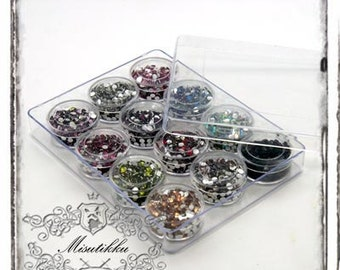 1 Box of 6000 PCS X 3mm Round Resin Gems Bling Faceted Rhinestone Flat Back Cabochon -Miniature Deco / Nail Art / Jewelry Supply (R3M.BL12)