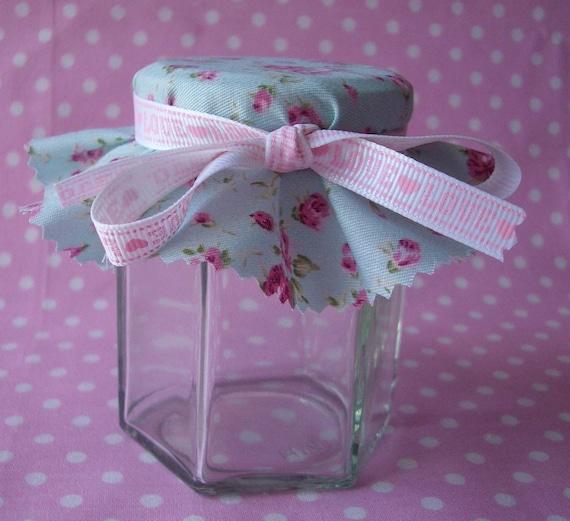 50 Jam Jar Covers & LOVE Ribbons - Custom listing for Evelyn