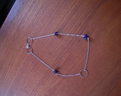 SQUARE necklace, with amethyste and rings