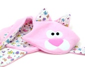 Animal Security Blanket - Unstuffed Toy -  Cat Baby or Toddler Blanket, Gift Boxed