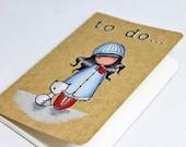 Pocket Sized Hand Stamped Moleskine Notebook- Christmas Planner/ Organiser