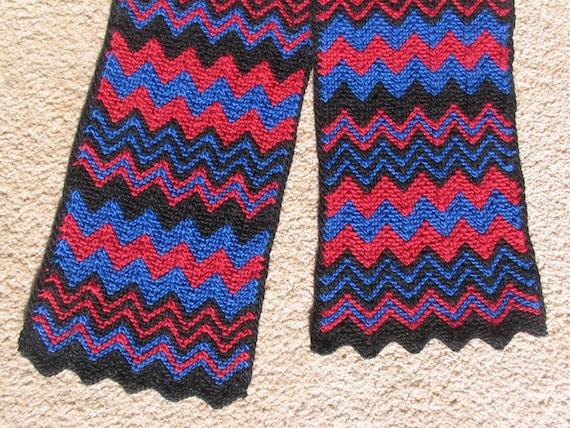 Knit Zig Zag Pattern : Knit Pattern Scarf Zigzag