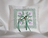 Celtic Thistle Wedding Ring Pillow