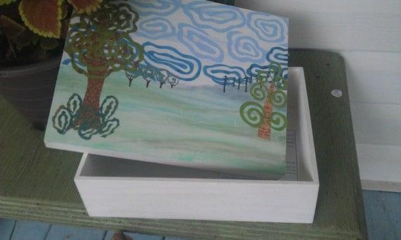 Swirled Trees Memory Box