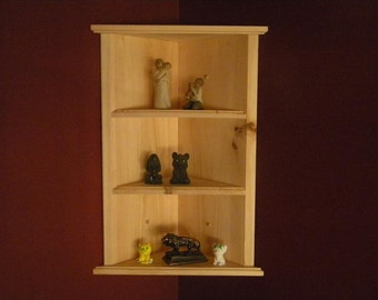 Wall mounted corner shelf retro 4 tier zig zag shelf for Corner wall mounted shelves