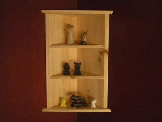 wall hanging corner shelf by customwoodconcepts on etsy. Black Bedroom Furniture Sets. Home Design Ideas