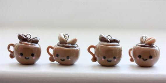 Cutie Coffee Charm (Handmade)