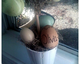 Personalized Wooden Easter Egg