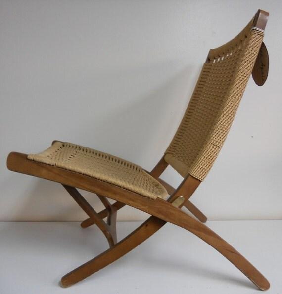 Hans Wegner Inspired Rope Chair