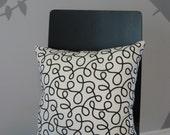 Modern design throw pillow - handmade throw pillow