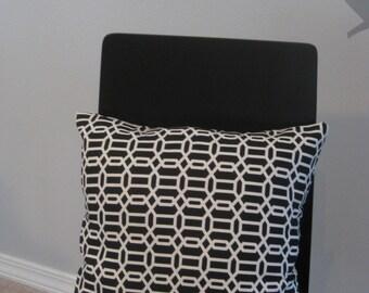 Modern geometric pattern throw pillow - handmade