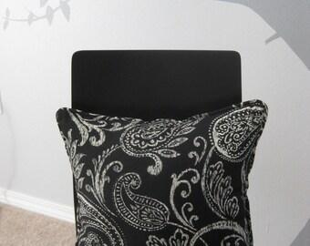 Modern flower pattern throw pillow - handmade