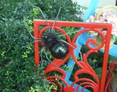Garden Spider (Black) garden accent