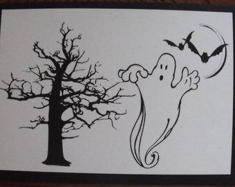 Handmade Happy Halloween Greeting Card
