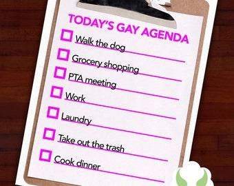 Greeting card: Gay agenda, menacing, isn't it — LGBT