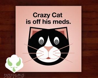 Print: lolcat inspired — crazy cat
