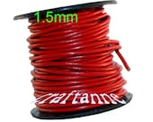 1.5mm Red Crimson Scarlet Premium Leather Round Cording, 6 Feet and Free Shipping ... BUY 3 GET 1 FREE Promo