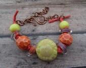 Bright Citrus Sunflower Bracelet