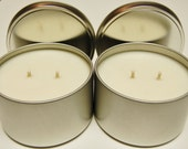 Soy Candle Tins 18 pack 16 oz  - Natural Color - 6 sets of 3 fragrances!!!!