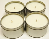 Soy Candle Tins 4 pack 8oz  - Natural Color - You Pick the Fragrance