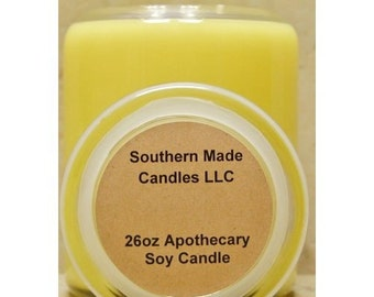 26 oz. Apothecary Jar Pure Soy Wax Candle