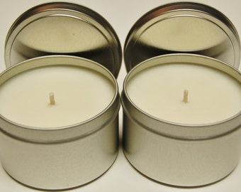 Soy Candle Tins 2 pack 8oz  - Natural Color - You Pick the Fragrance