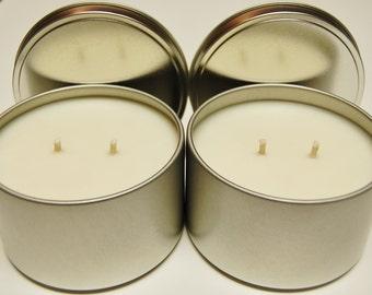 Soy Candle Tins 18 pack 16 oz  - Natural Color - 6 sets of 3 fragrances!!!!